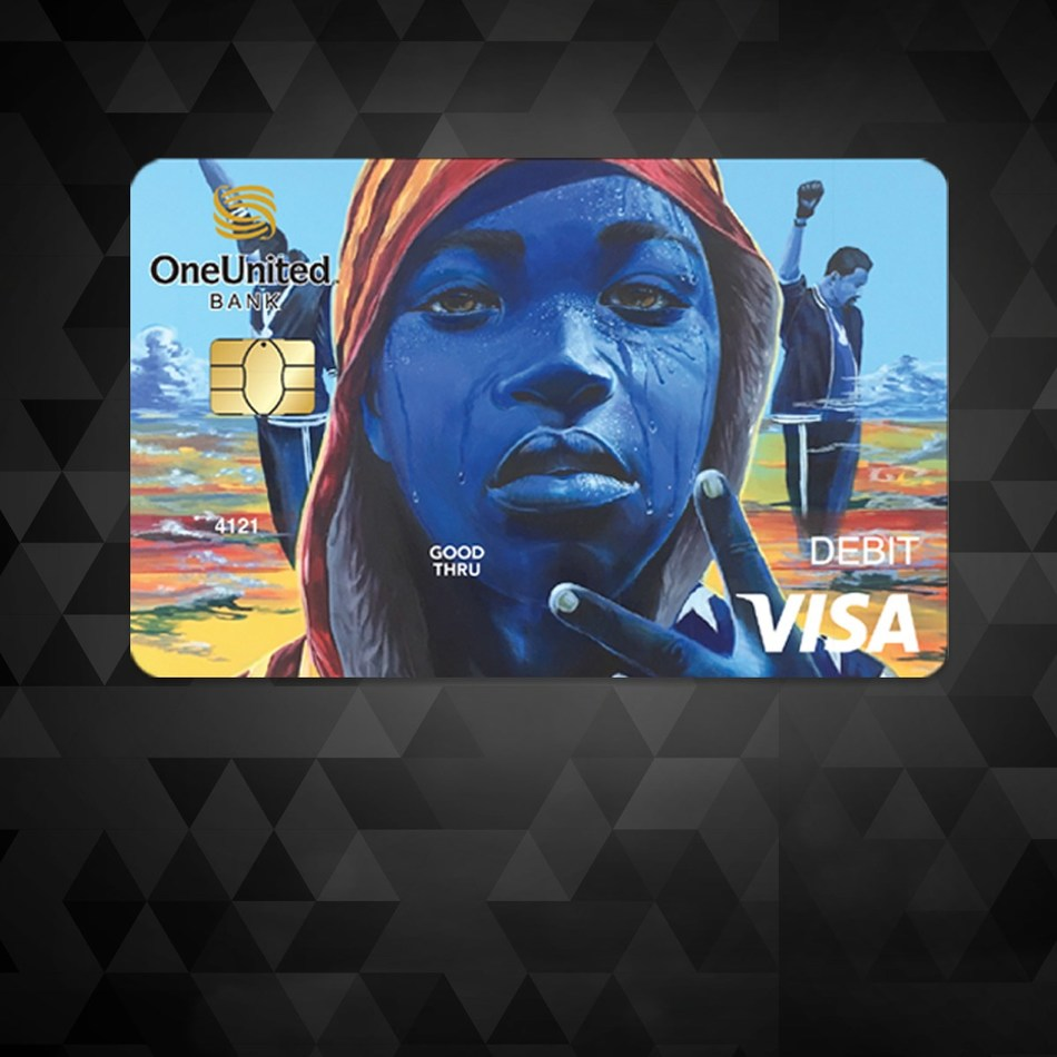 The Amir Visa Debit Card ~ a partnership between OneUnited Bank and #BlackLivesMatter to celebrate Black History Month and organize Black America's $1.2 Trillion in spending power