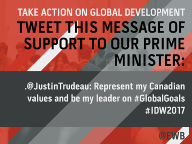 EWB Young Canadians Survey Twitter Call to Action (CNW Group/Engineers Without Borders Canada)