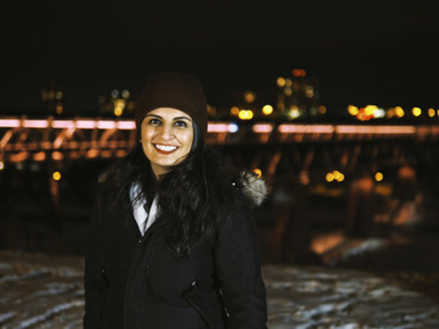 Laveza Khan, EWB Policy Assistant (CNW Group/Engineers Without Borders Canada)