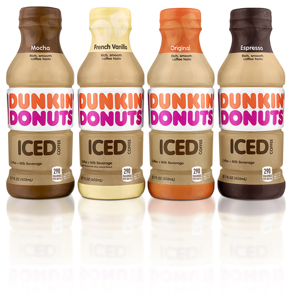 New Dunkin' Donuts ready-to-drink iced coffees arrive to grocery, convenience stores, mass merchandisers and Dunkin' Donuts restaurants nationwide.