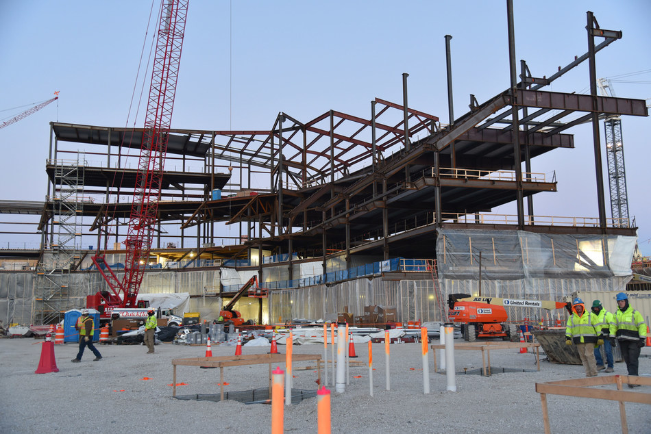 Wisconsin Entertainment and Sports Center | Milwaukee, WI - The new multi-purpose arena is part of a public-private partnership between Milwaukee Bucks ownership and local and state government, and will be the cornerstone of a new sports and entertainment district built on 30 acres of mostly-vacant land in downtown Milwaukee. Currently under construction, the arena will be completed in time for the start of the 2018-19 NBA season.