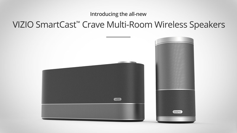 VIZIO SmartCast Crave Multi-Room Wireless Speakers Now Available in Canada with Chromecast built-in for Seamless WiFi Streaming (PRNewsFoto/VIZIO, Inc.)