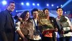 Winning Pic L to R Chef Sanjeev_Bronze Winner Selah-Canada_Gold Winner Tham-Singapore_Dr Bose Chairman YCO_Silver Medal Winner Ou Kai-Malaysia (PRNewsFoto/IIHM)