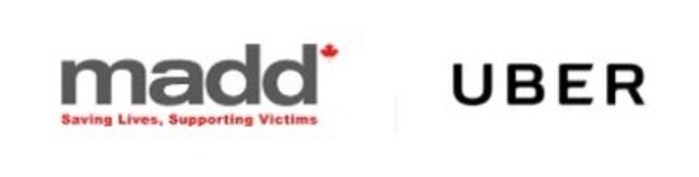 Logos: MADD, Uber (Groupe CNW/Uber Canada Inc.)