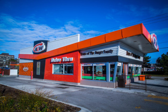 Example of an A&W Drive Thru Free Standing Restaurant (CNW Group/A&W Food Services of Canada Inc.)