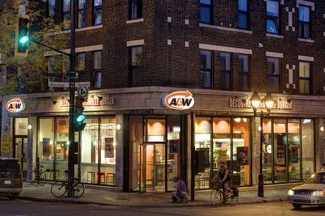 Example of an A&W Urban Restaurant (CNW Group/A&W Food Services of Canada Inc.)