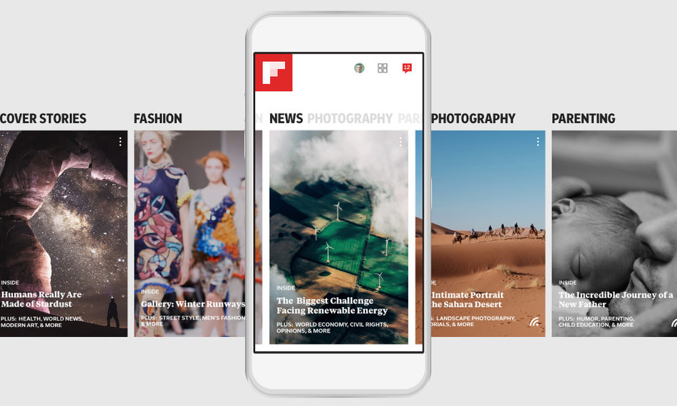 Flipboard creates Smart Magazines for any interest with today's new release for iPhone and Android phones worldwide.