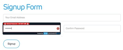PasswordPing Sign Up Form: Protect Your Users with Exposed Password and Credential Screening