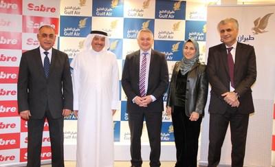From L to R: Ahmed Janahi, Gulf Air; Maher AlMussalam, Gulf Air; Dino Gelmetti, Sabre; Raida Abumaizar, Sabre; Dr. Jassim Haji, Gulf Air