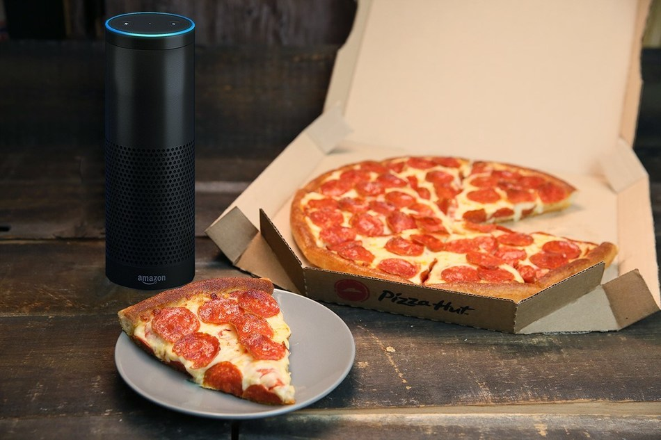 Pizza Hut and Amazon celebrate National Pizza Day all week with 30 percent off orders placed through the Pizza Hut skill for Alexa, Feb. 9-16