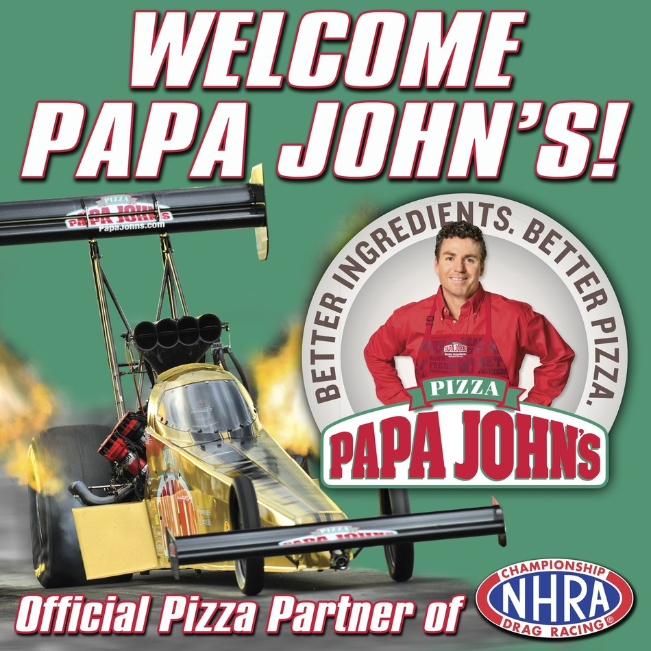 NHRA Championship Drag Racing delivers Papa John's as Official Pizza Partner!