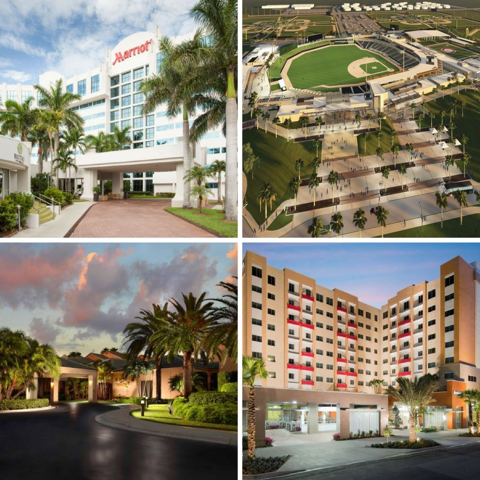The Ballpark of The Palm Beaches, home to the Houston Astros and Washington Nationals during Spring Training, forms a partnership with West Palm Beach Marriott, Courtyard West Palm Beach and Residence Inn West Palm Beach Downtown/CityPlace Area. All three hotels are within an 8-mile radius of the brand-new baseball complex.