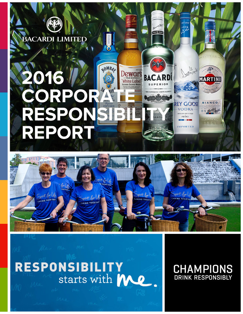 Bacardi Limited continued to improve in its social responsibility, people, environmental, operational efficiency and sourcing programs. These accomplishments are featured in the 9th annual Bacardi Limited Corporate Responsibility (CR) Report which reinforces the Company's strategic business initiatives and core values during the 2016 fiscal year encompassing April 1, 2015, to March 31, 2016.