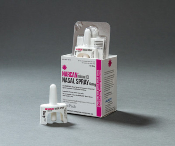 NARCAN® (naloxone HCl) Nasal Spray (CNW Group/Adapt Pharma)