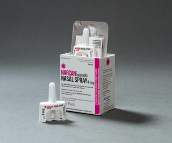 NARCAN® (naloxone HCl) Nasal Spray (CNW Group/Adapt Pharma)