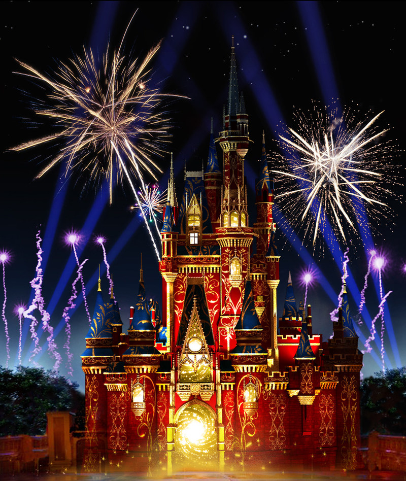 "Beginning May 12, 2017, Walt Disney World guests can discover the newest, most spectacular fireworks show in the history of Magic Kingdom Park with ""Happily Ever After."" The stunning new nighttime extravaganza will feature more lasers, lights and projections than any Magic Kingdom Park show before it. (Disney)"