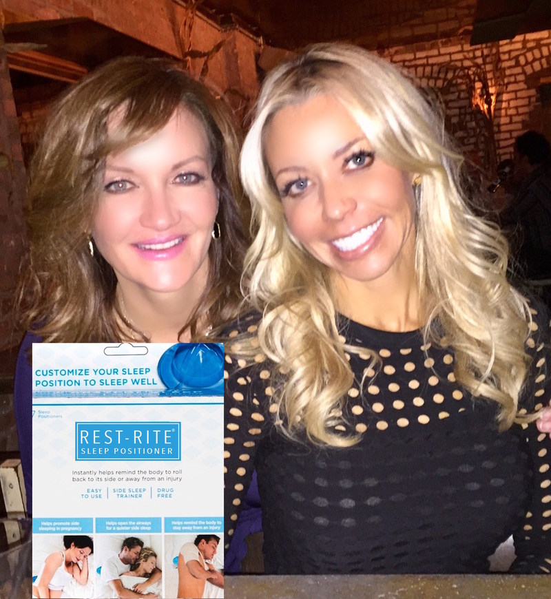 Jennifer Sparr, CEO/Founder of Rest-Rite Sleep Positioner (left) and Nancy Segrato, advisor to Rest-Rite Sleep Positioner on orthopedic healing