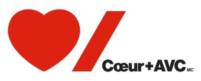Logo : Coeur + AVC (Groupe CNW/Fondation des maladies du cœur et de l'AVC)