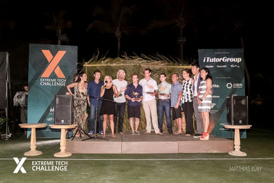 Extreme Tech Challenge 2017 on-stage with Richard Branson