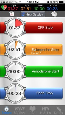 CARMA is an app that uses ACLS protocols, countdown timers, event logging and reporting to standardize, remind and organize users through a CPR event. Identical Experience CARMA has the same features and functionality-no matter what mobile platform you prefer to use.