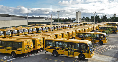 Delivery of 628 IVECO BUS school buses to the Brazilian state of Minas Gerais (PRNewsFoto/CNH Industrial N.V.)