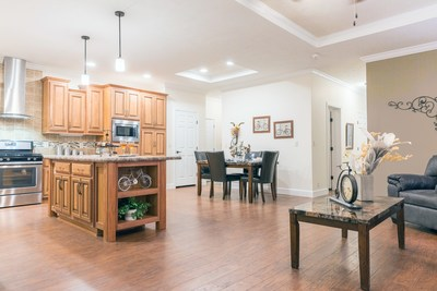 Interior view of the custom Brookstone Community 9194E on display in Louisville, Kentucky