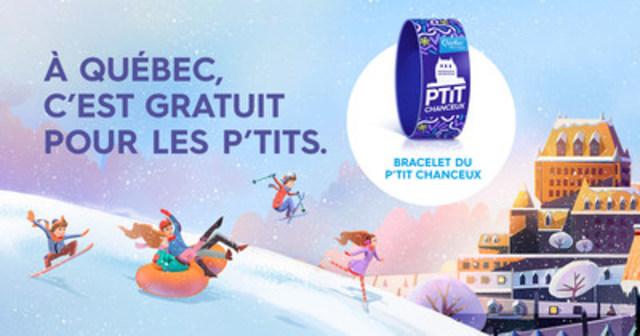 Avec le bracelet du P'tit chanceux, les enfants sont VIP à Québec! (Groupe CNW/OFFICE DU TOURISME DE QUEBEC)