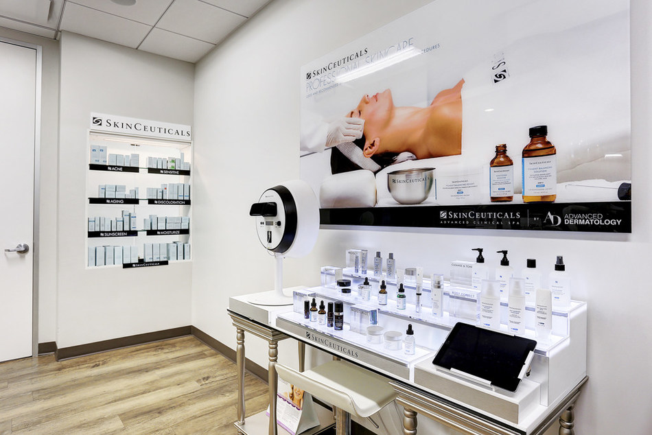 SkinCeuticals Advanced Clinical Spa inside Advanced Dermatology in partnership with Dr. Sherry Ingraham.