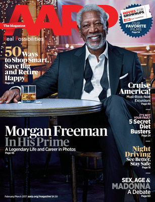 Morgan Freeman on the February/March Issue of AARP The Magazine