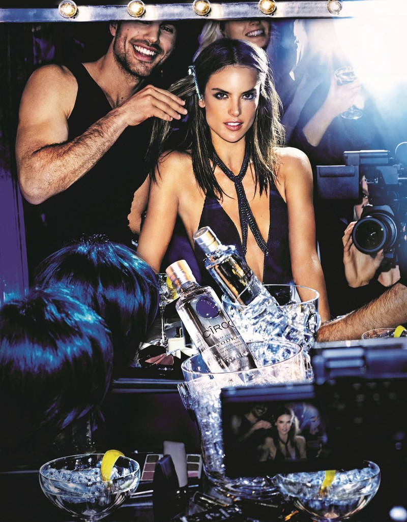 As the luxury vodka at the heart of the globe's hottest celebrations and events, CÎROC has partnered with global supermodel Alessandra Ambrosio for its #ONARRIVAL campaign, to follow her year of exciting 'arrivals' at the biggest fashion events and on-trend party destinations. Pictured here, Alessandra stars in the brand's latest photography campaign, shot by the undisputable king of fashion photography and CÎROC global creative partner Mario Testino. The first image, released today, reveals Alessandra's glamourous backstage preparations in 'Hair and Make-up' as she prepares to celebrate at one of the hottest parties in the world. (PRNewsFoto/CÎROC Ultra-Premium Vodka)