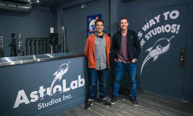 AstroLab Studios founder Adam Weitner (RIGHT) and Studio Manager and Production Coordinator Jeff Hanley (LEFT) at the newly launched Toronto production studio. (CNW Group/AstroLab Studios)