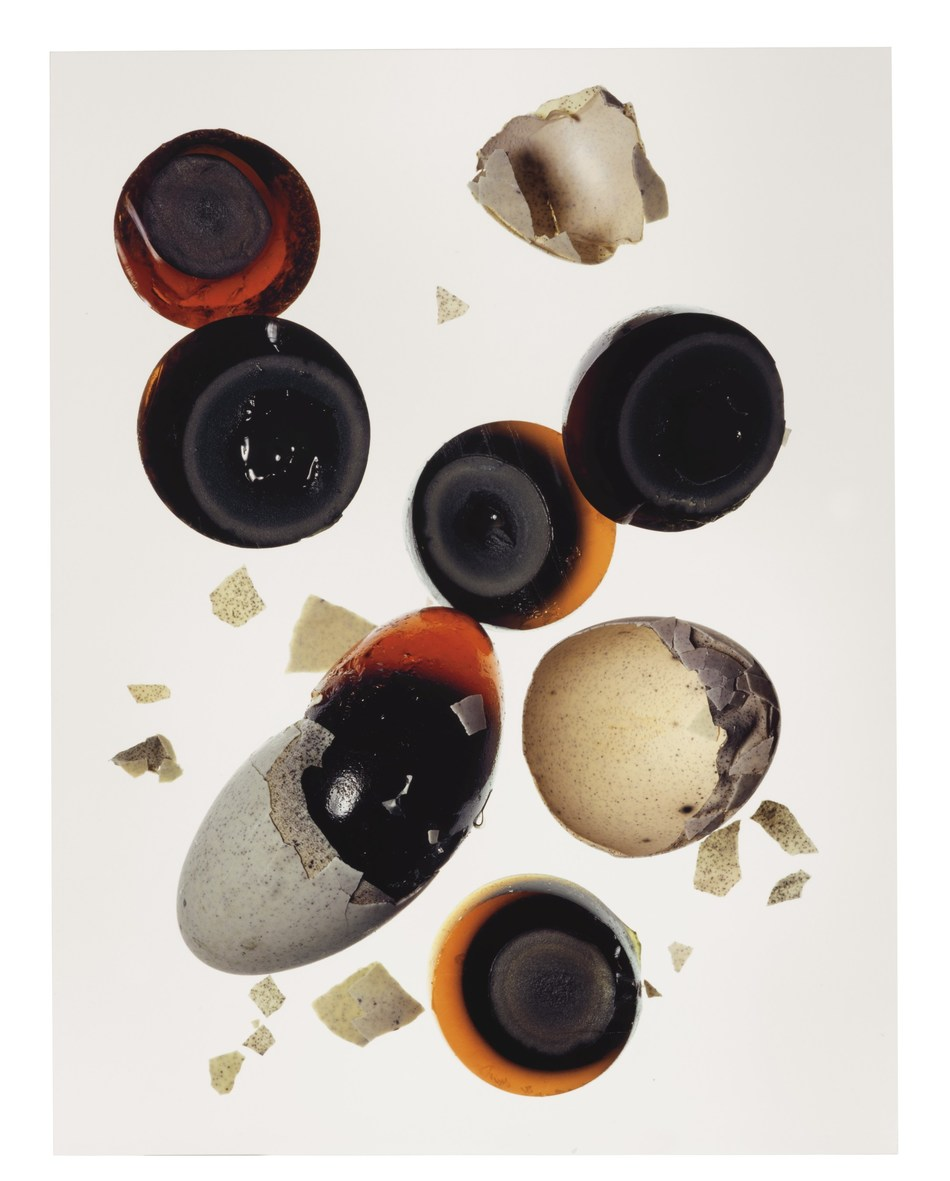 Irving Penn, 1,000 Year Old Eggs (A), New York, 2003, Courtesy of The Irving Penn Foundation (C) Conde Nast Publications, Inc.