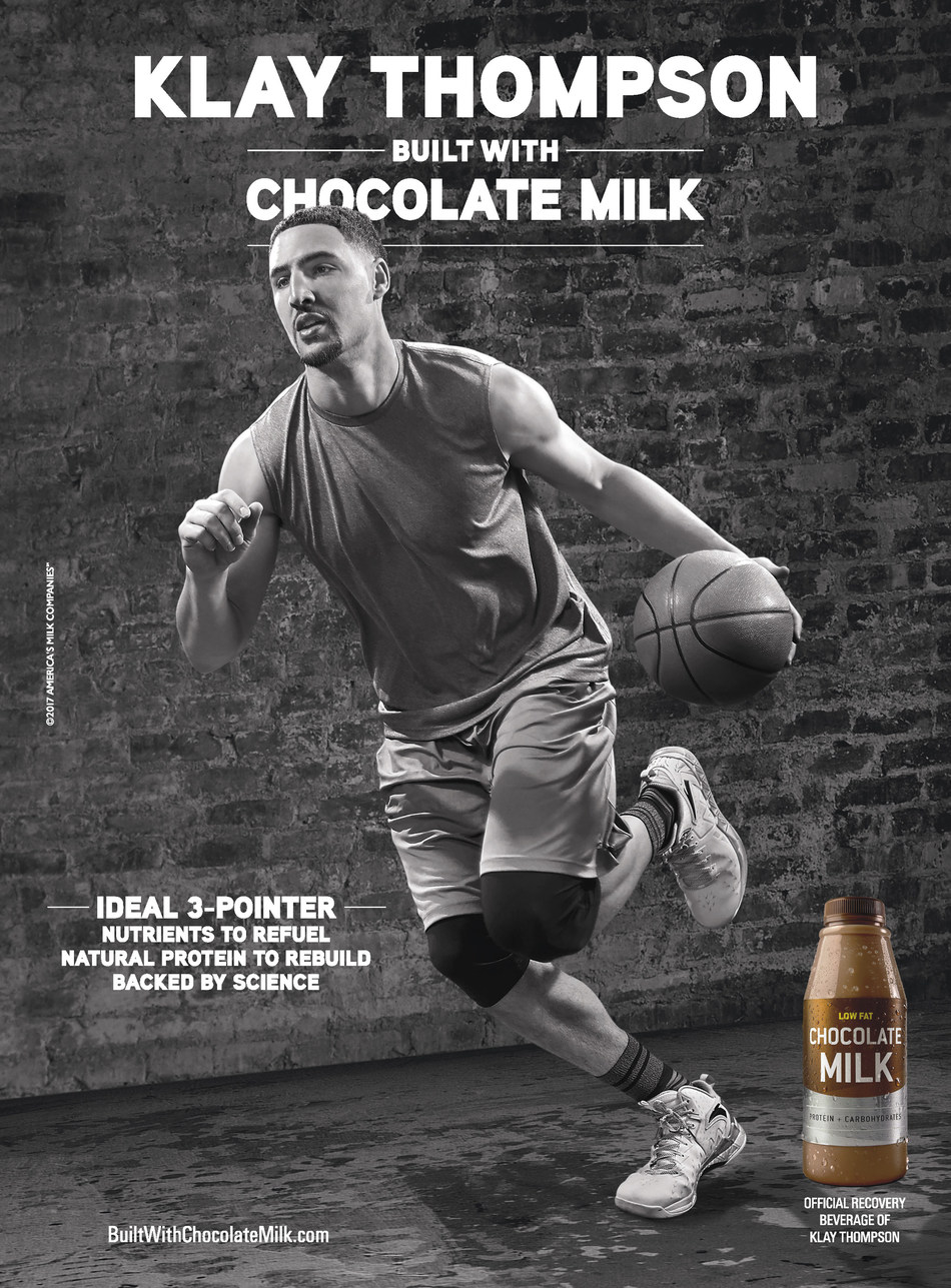 Basketball Superstar Klay Thompson Shoots to Win in New 'BUILT WITH CHOCOLATE MILK' Campaign.