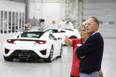 The NSX Insider Experience gives owners exclusive access to the making of their own supercar. (PRNewsFoto/Acura)