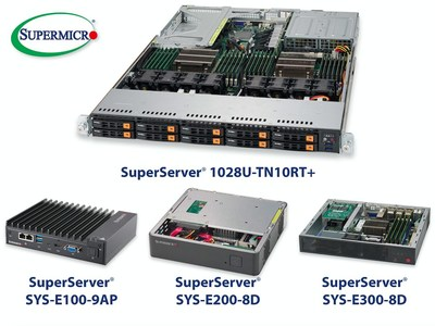 Supermicro meets the need of the Security Industry with key server building blocks to provide firewalls, encryption, network appliances and cyber security. Products include the 1U SuperServer 1028U-TN10Rt as well as smaller SYS-E300/200/100 servers.