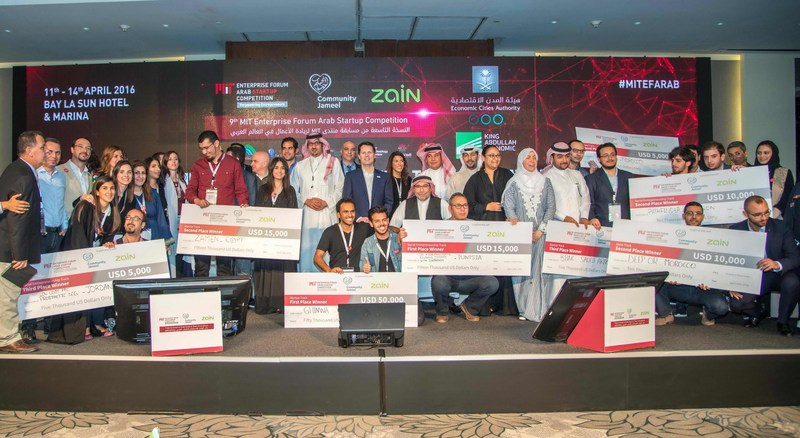 The semifinalists of MITEF Arab Startup Competition in its 10th edition (PRNewsFoto/MITEF Pan-Arab)