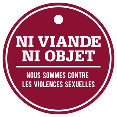 Logo : Ni viande ni objet (Groupe CNW/Fédération des cégeps)