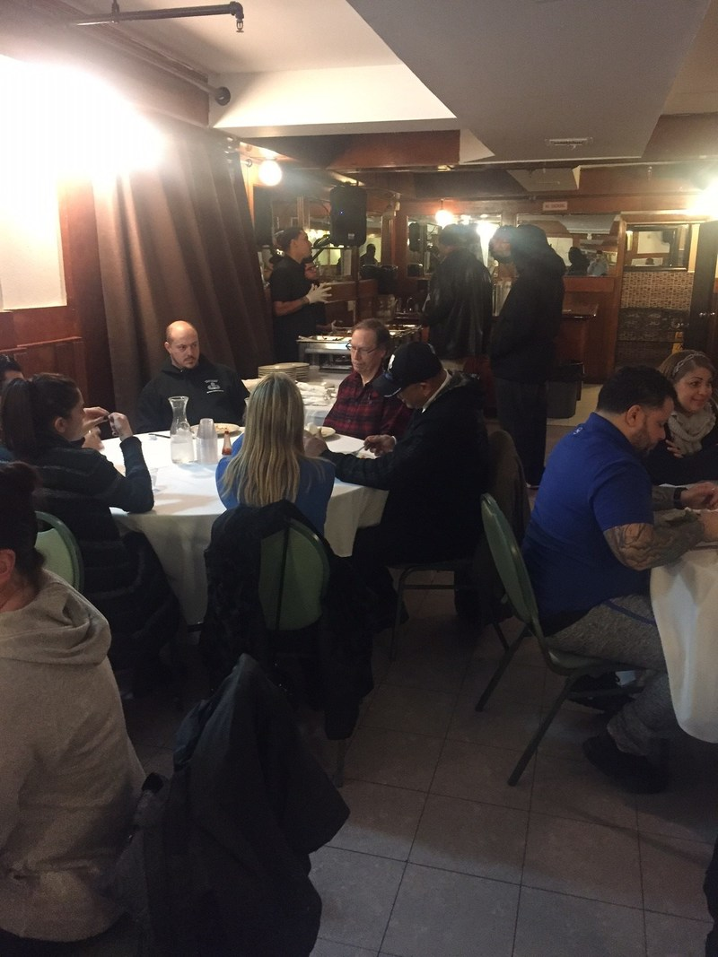 More than 50 warriors and guests began their evening at a popular Latin eatery, where they reconnected with old friends, made new ones, and talked about helpful programs with WWP staff members. After dinner, the group headed to Barclays Center to see the New York Islanders take on the Florida Panthers.