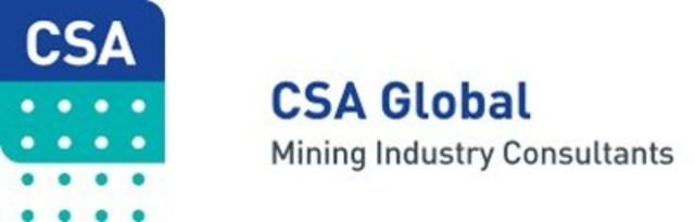 CSA Global Pty Ltd, Mining Industry Consultants (CNW Group/CSA Global Canada Geosciences Ltd)