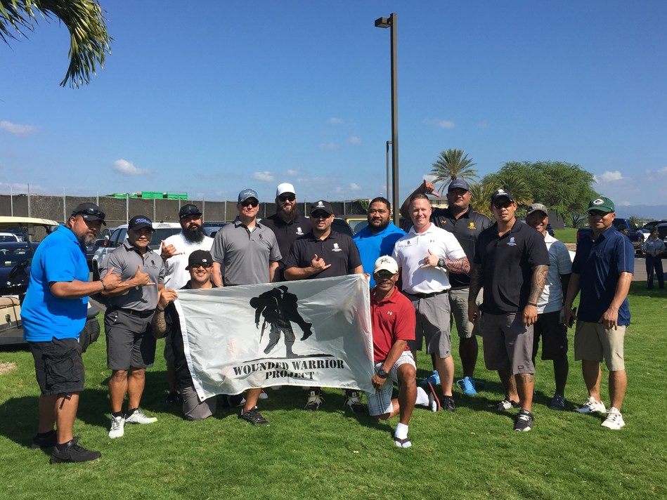 A group of Wounded Warrior Project(R) (WWP) veterans recently spent the day at Hoakalei Country Club, where they connected with fellow service members and their community. Warriors took to the links at a Salute Military Golf Association (SMGA) tournament.