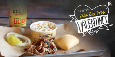Kids Eat Free at every Dickey's Barbecue Pit location this Valentine's Day!