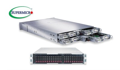 Fifth generation server from Supermicro offers 4-node, 2U solution supporting 205 watt dual-Xeon Processors, 24 DIMMs per node, and 24 All-Flash NVMe