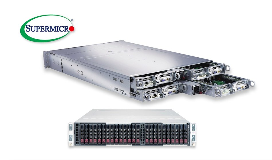 Fifth generation server from Supermicro offers 4-node, 2U solution supporting 205 watt dual-Xeon Processors, 24 DIMMs per node, and 24 All-Flash NVMe (PRNewsFoto/Super Micro Computer, Inc.)