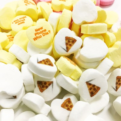 MyCustomCandy fulfills custom candy heart requests worldwide. Customers can select from 7 color choices and add messages of up to 9 characters across three lines. And yes, emojis can be printed as well! For those wanting more options, or those who feel that less is more, can both be accommodated with custom orders.