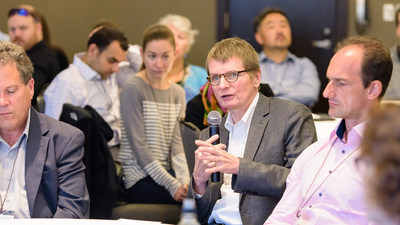 The Kenneth Rainin Foundation's annual Innovations Symposium brings together scientific leaders like, Eric G. Pamer, MD of Memorial Sloan-Kettering Cancer Center, to move Inflammatory Bowel Disease research forward. Photo credit: Stephanie Secrest.