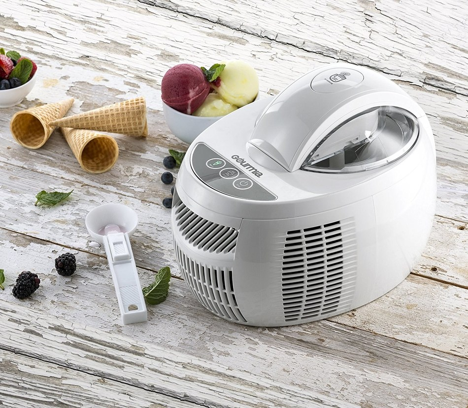 The Gourmia Automatic 2.1-Pint Ice Cream Maker with Internal Cooling System makes the perfect sweet treat for your sweetheart this Valentine's Day.