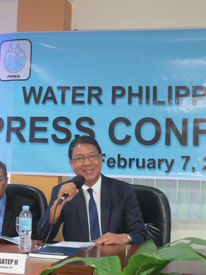 Engr. Eulogio Agatep II, the newly-elected president of the Philippine Water Works Association (PWWA) expresses the organisation's strong support to Water Philippines 2017.