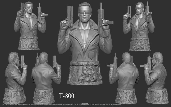T-800 player token from The Terminator: The Official Board Game by Space Goat Productions