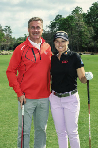 CP President and CEO Keith Creel joins CP''s newest Golf Ambassador, Canada''s top-ranked golfer, Brooke Henderson (CNW Group/Canadian Pacific)