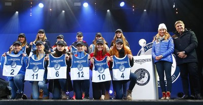 """Longines Future Ski Champions 2017"" Bib draw ceremony - copyright Zoom Agency Longines (PRNewsFoto/LONGINES)"